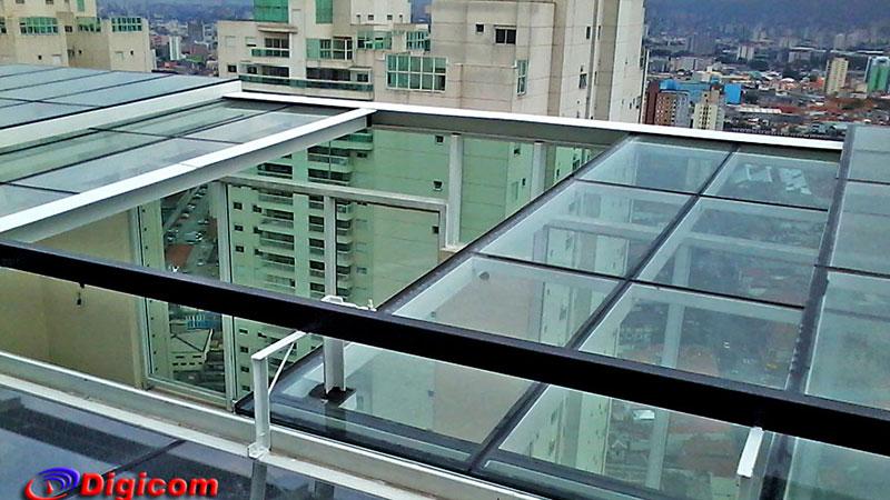 Cobertura de vidro retr til autom tica digicom coberturas for Cobertura piscina